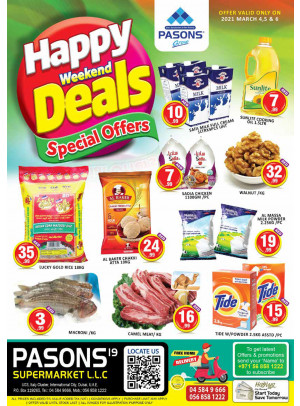 Weekend Deals - Pasons 19 Supermarket