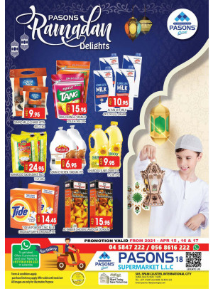 Ramadan Dellights - Pasons 18 Supermarket