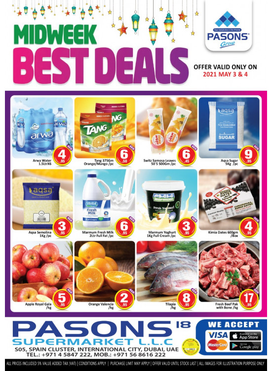 Midweek Best Deals - Pasons 18 Supermarket