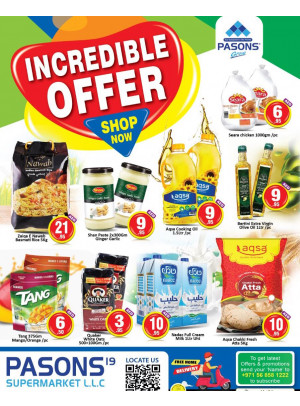 Incredible Offers - Pasons 19 Supermarket