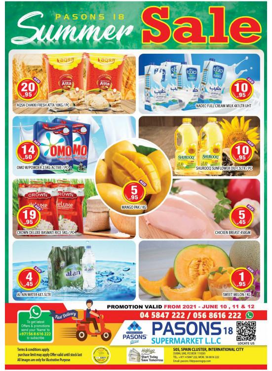 Summer Sale - Pasons 18 Supermarket