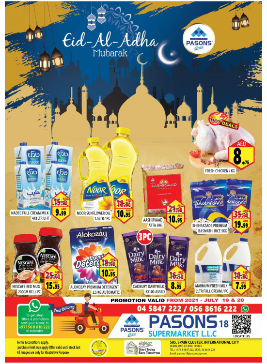 Eid Al Adha Offers - Pasons 18 Supermarket