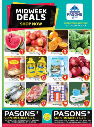 Midweek Deals - Pasons 19 Supermarket