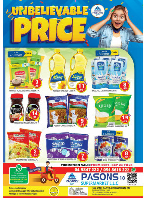 Unbelievable Prices - Pasons 18 Supermarket