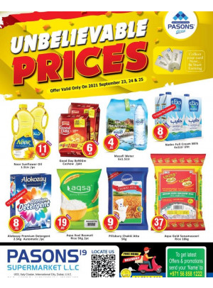 Unbelievable Prices - Pasons 19 Supermarket