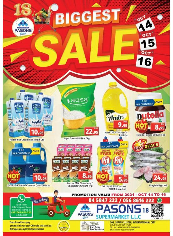 Biggest Sale - Pasons 18 Supermarket