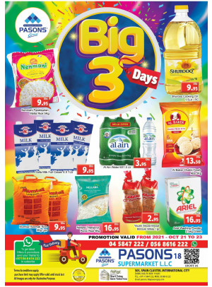 Big 3 Days - Pasons 18 Supermarket