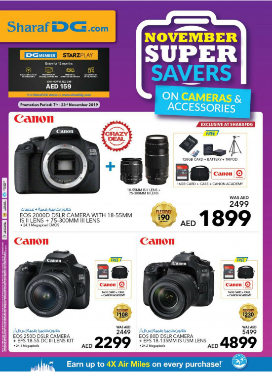 Super Savers on Cameras & Accessories