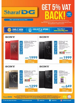 Get 5% VAT Back Offer on SONY Mobiles