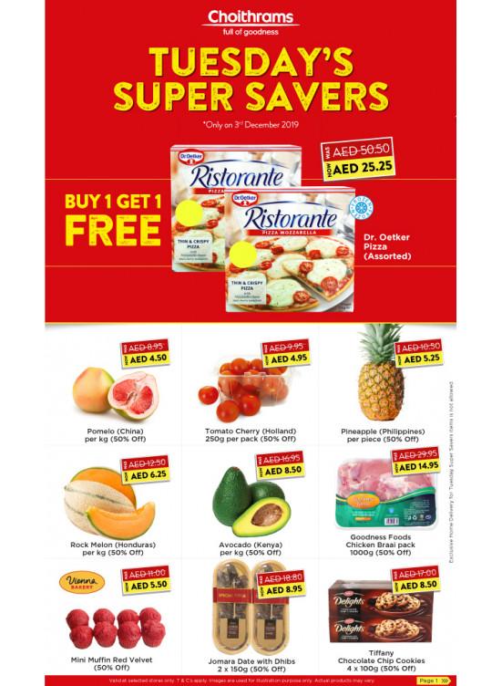 Tuesday Super Savers