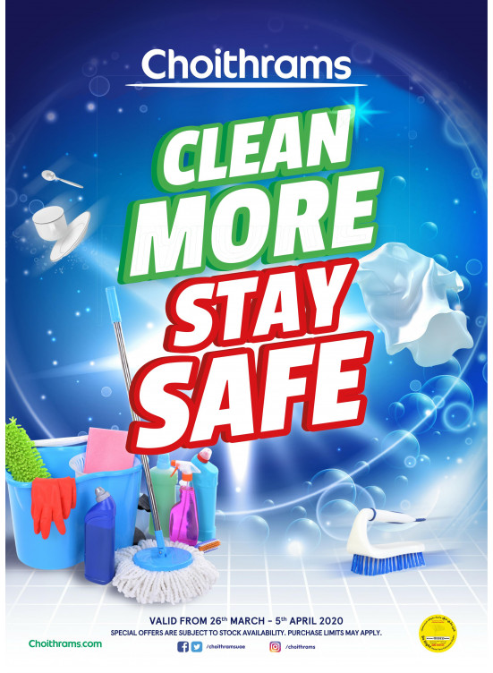 Clean More Stay Safe