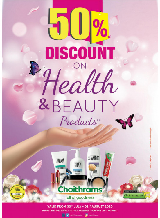 50% Off on Health & Beauty Products