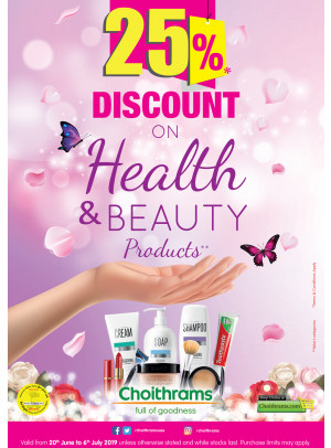 25% Off on Health & Beauty Products