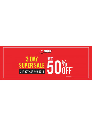 3 Day Super Sale - Up To 50% Off