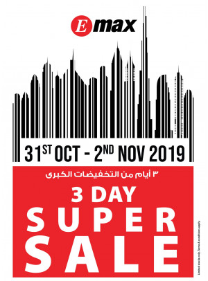3 Day Super Sale