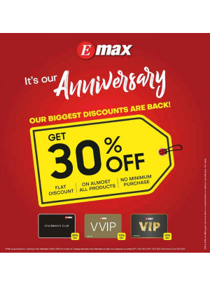 Anniversary Discounts 30% on Electronics