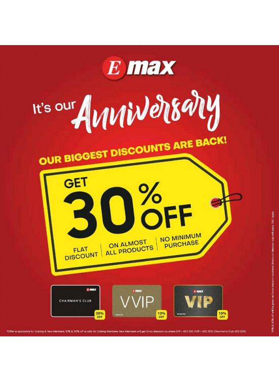 Anniversary Discounts 30% on Electronics