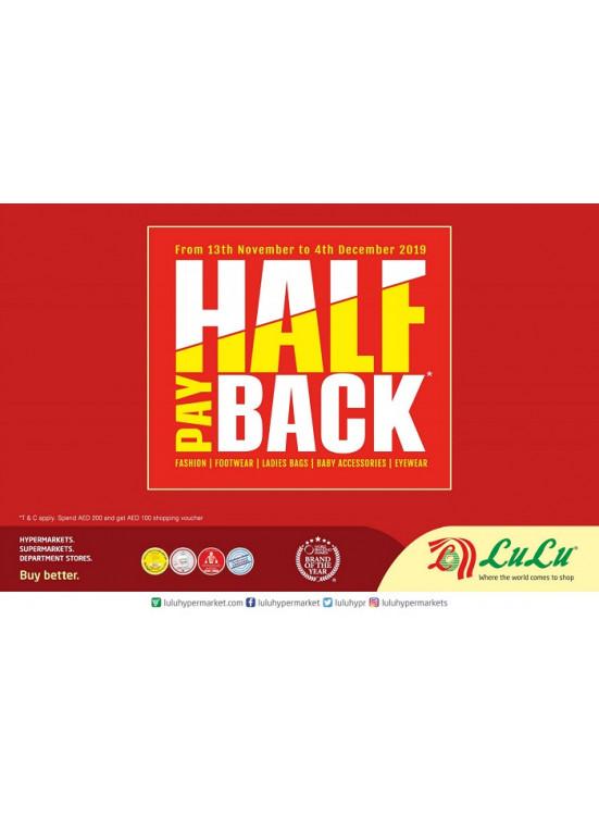 Half Pay Back Offer