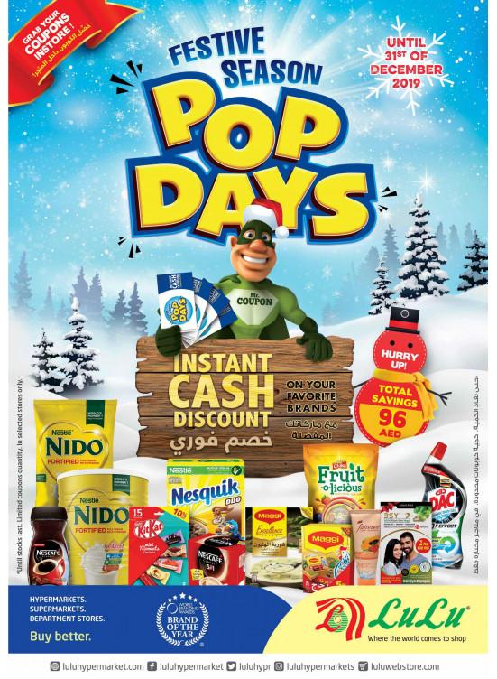 Pop Days - Instant Cash Discount