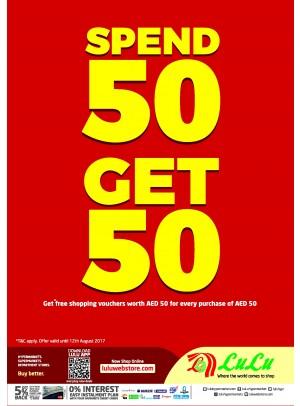 Spend 50 Get 50