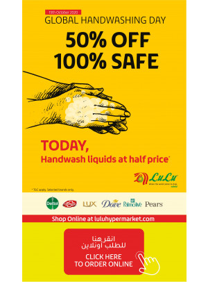 Global Handwashing Day - 50% Off