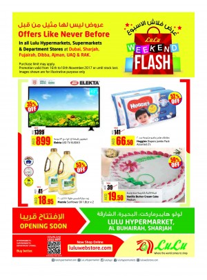 Weekend Flash Offers - Dubai & Northern Emirates Branches