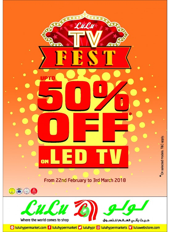 Lulu TV Fest - Up To 50% OFF on LED TV from Lulu until 3rd
