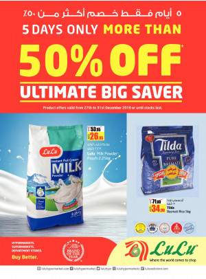 Ultimate Big Saver More Than 50% Off