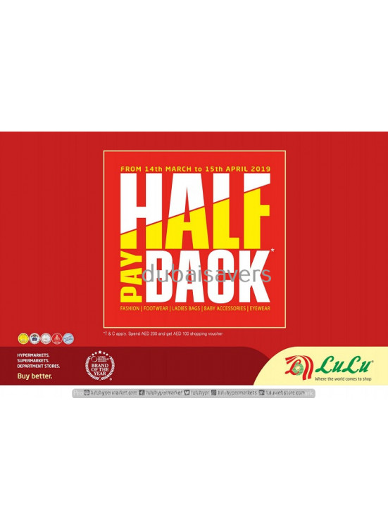 39ab9bd14a Half Back Offer from Lulu until 15th April - Lulu Offers   Promotions