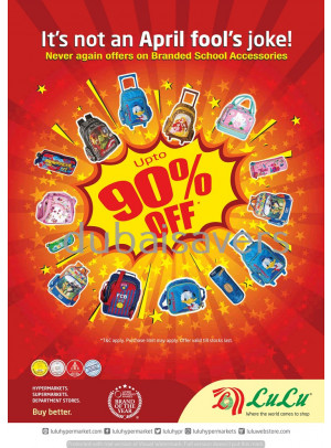 Up To 90% Off on Branded School Accessories