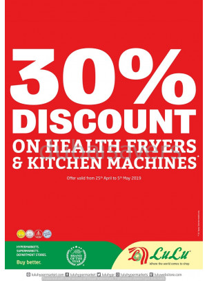 30% Discount on Health Fryers & Kitchen Machines