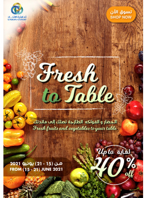 Fresh to table