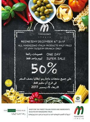 One Day 50% Super Sale on All Magazzino Italia Products - Umm Suqeim Branch