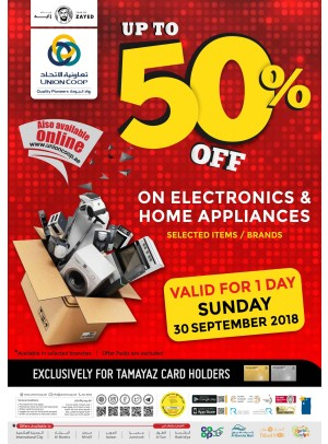 Up To 50% Off on Electronics & Home Appliances