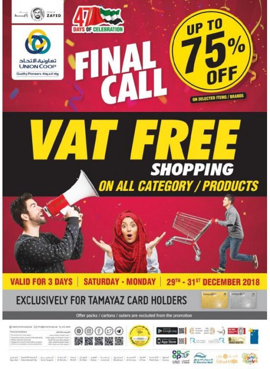 Final Call Vat Free