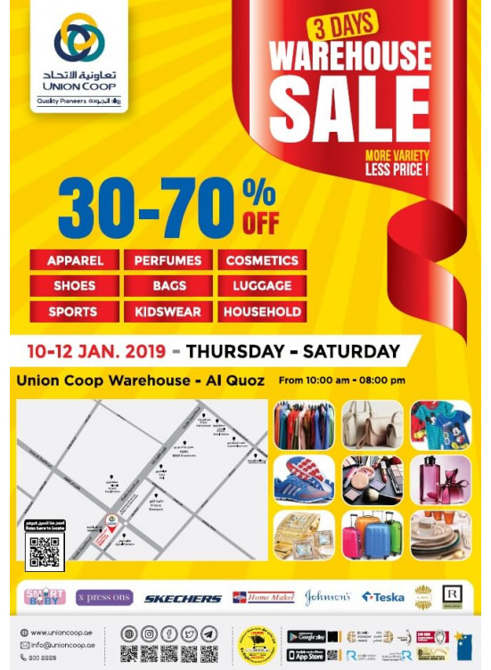 Warehouse Sale - 30% To 70% Off