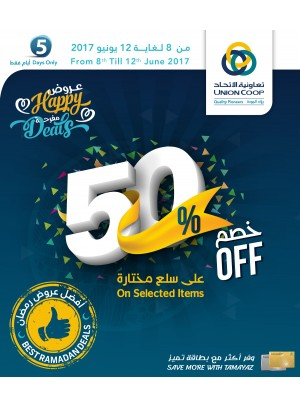 50% Off - Happy Deals