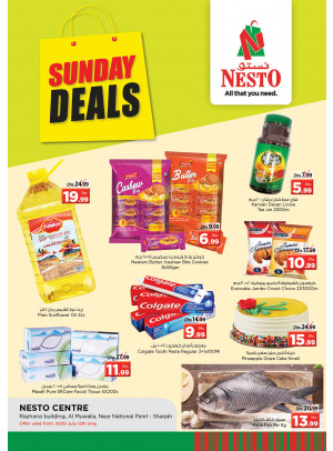 Sunday Deals - National Paints, Sharjah