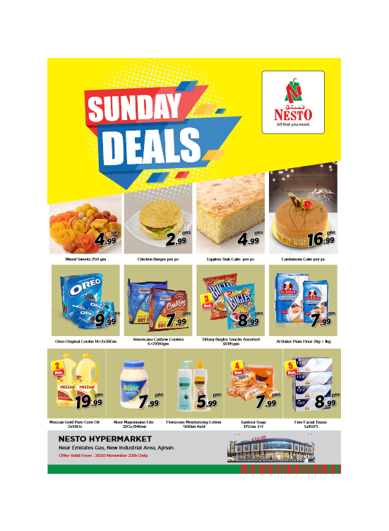 Sunday Deals  -  New Industrial Area