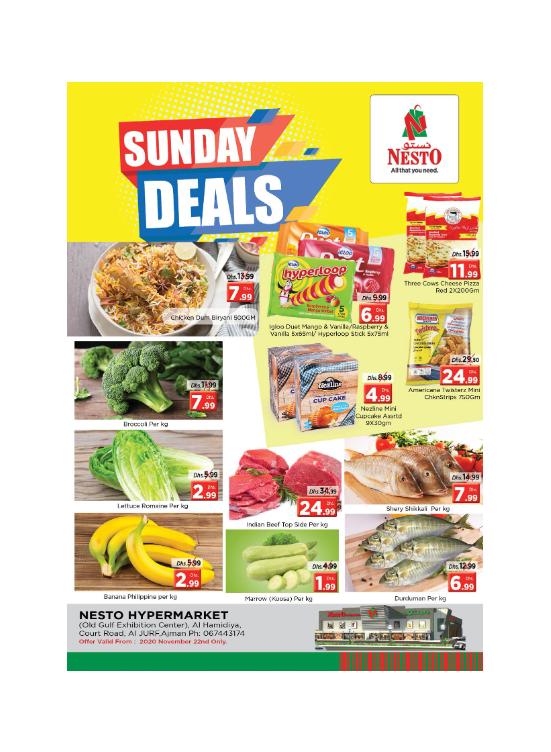 Sunday Deals - Jurf, Ajman