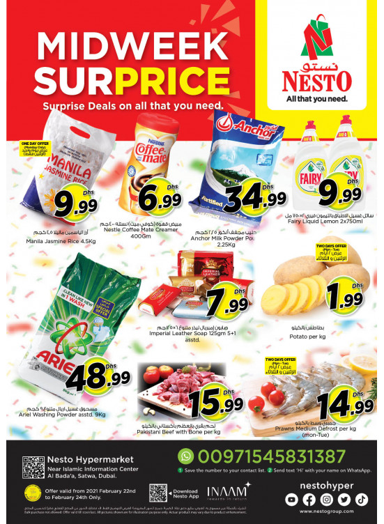 Midweek Deals - Satwa