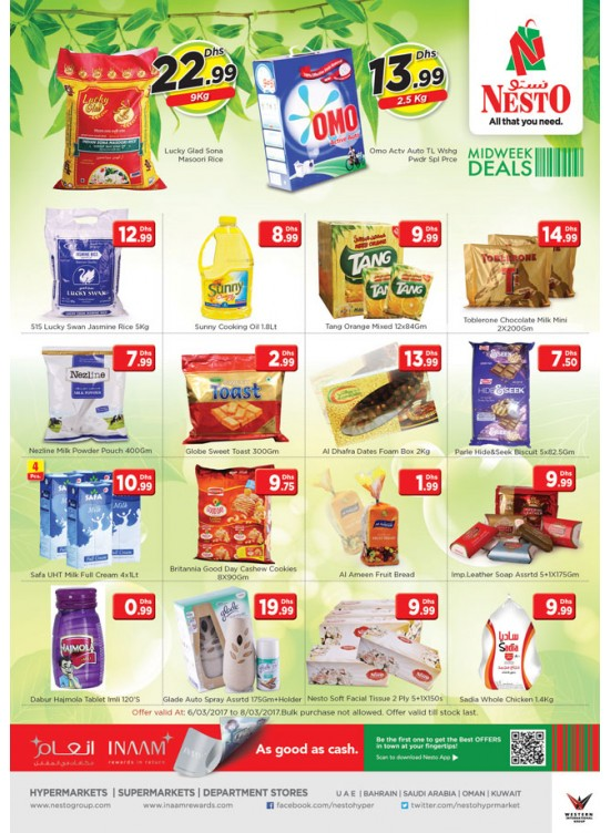 Midweek Deals Nesto At  JABEL ALI