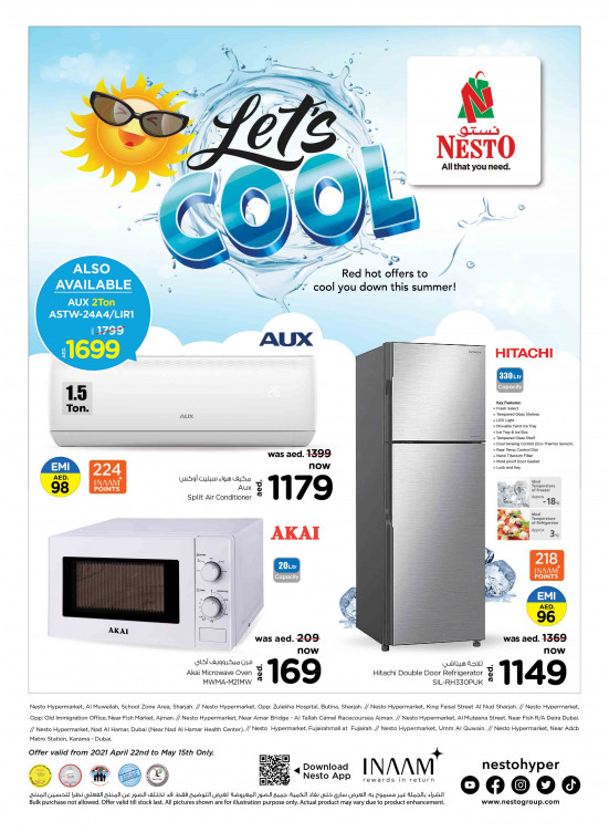 New Today Leaflet Ramadan Catalog with Offers and Deals from Nesto Hypermarket, Burj Nahar Mall, Deira Dubai
