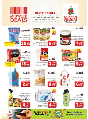 Midweek Deals Nesto At One Tower Rumailah Ajman
