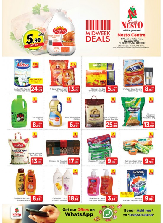 Midweek Deals Nesto At Al Wahada Sharjah