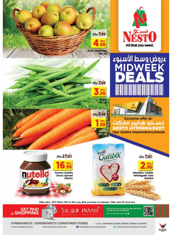 Midweek Deals Nesto At Butina Sharjah