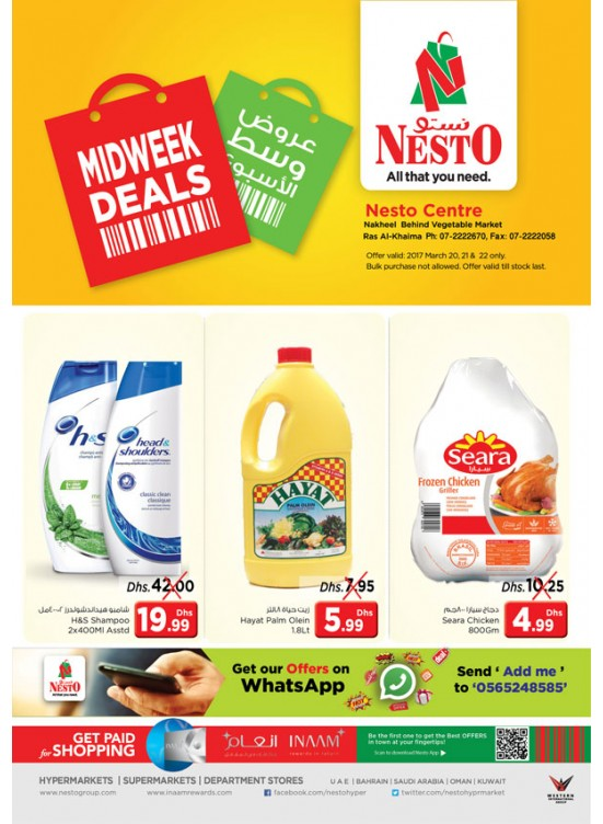 Midweek Deals Nesto At Ras Al Khaima