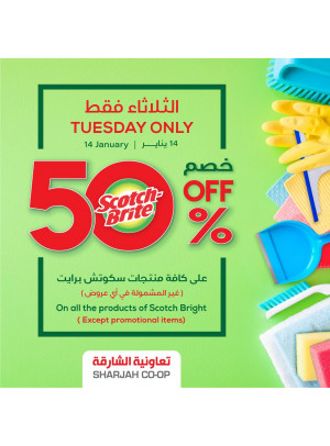 Tuesday Only - 50% Off on Scotch Bright Products