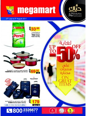 Up to 50% on Great Items - Megamart