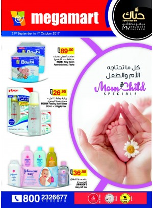 Mom & Child Specials - Megamart Branches